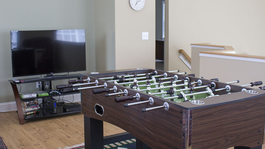 Foosball in Upstairs Loft
