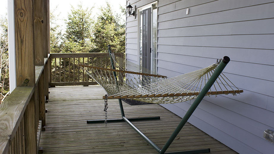 Hammock on Lower Deck